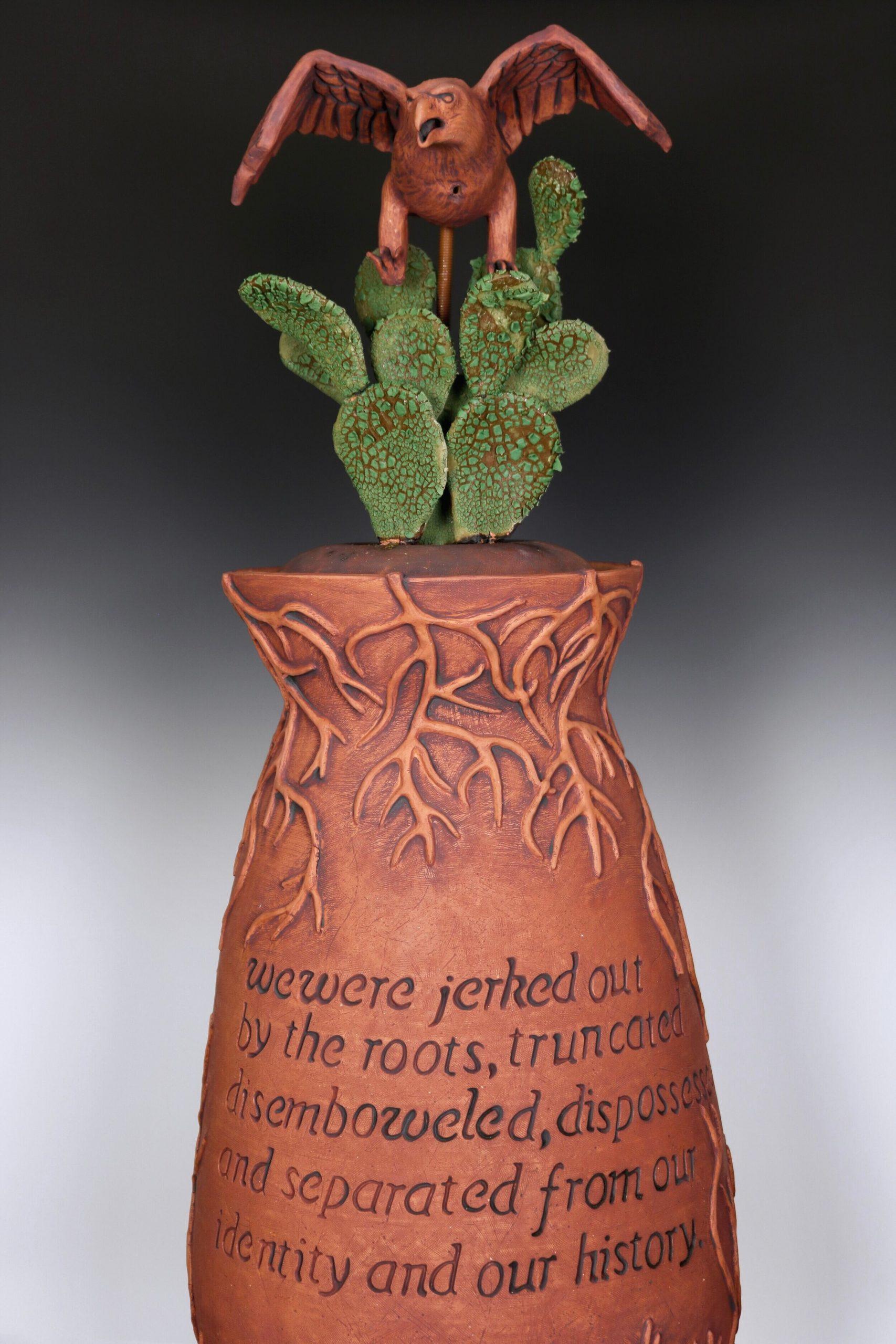 Full length Destierro ceramic vase